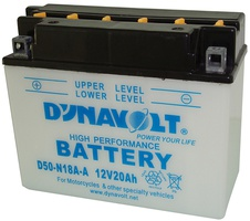 Аккумулятор для мотоциклов Dynavolt Y50-N18A-A