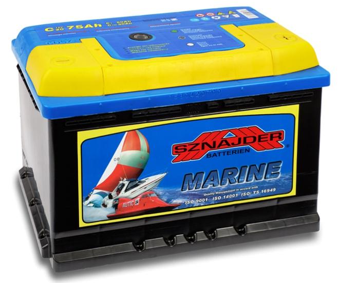 Лодочный аккумулятор Sznajder Marine 75 R
