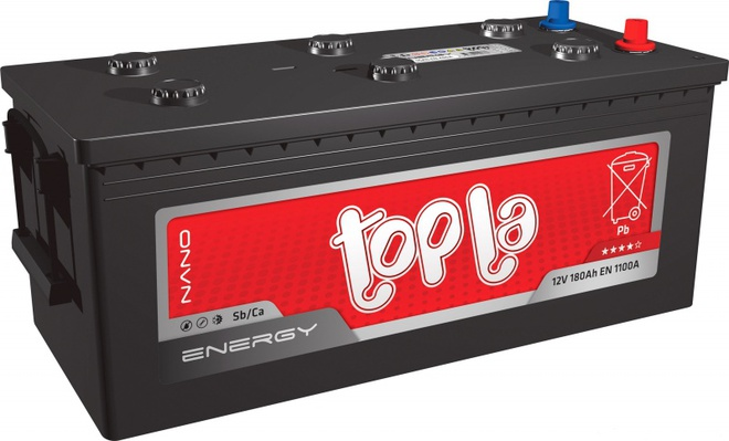 Грузовой аккумулятор 190 TOPLA Energy L+