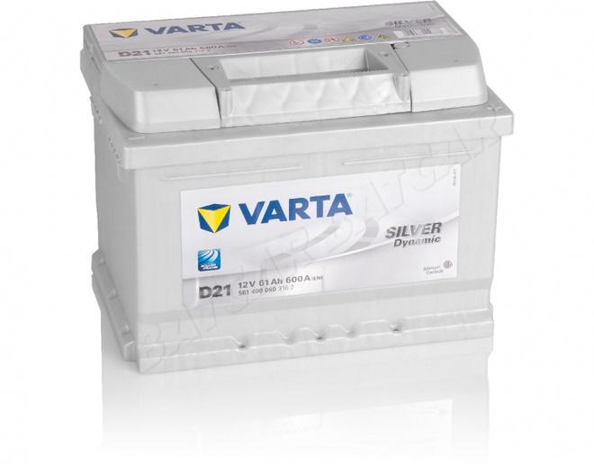 Аккумулятор автомобильный 61 VARTA SILVER DYNAMIK