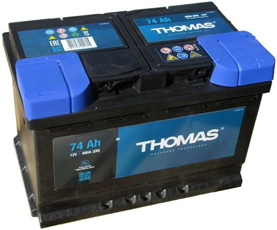 Аккумулятор автомобильный 74 Ah THOMAS