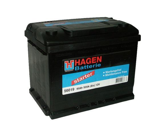Аккумулятор автомобильный 60 HAGEN