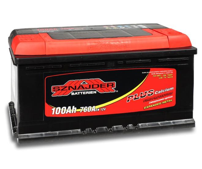 Аккумулятор автомобильный Sznajder Plus 100 R new