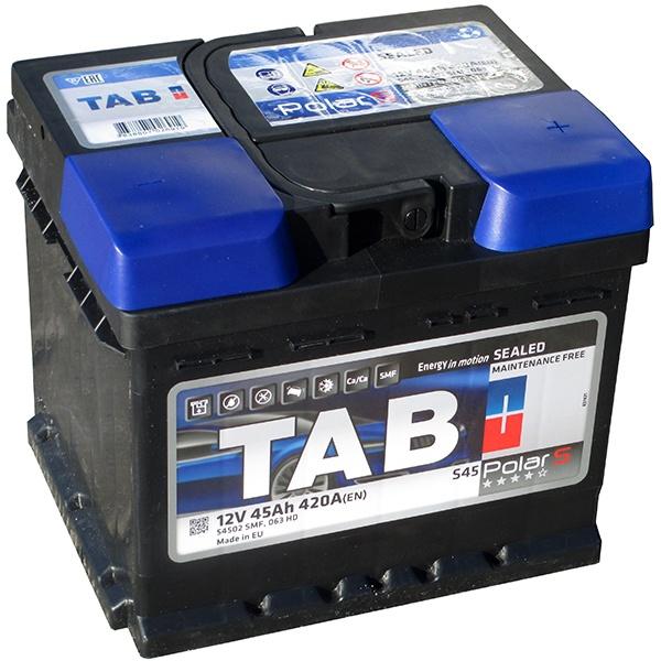 Аккумулятор автомобильный Tab Polar 45 R низк.