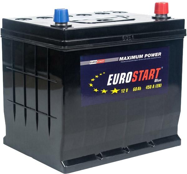Аккумулятор автомобильный 60 Аh Eurostart Blue Asia +