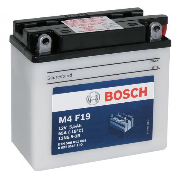 Аккумулятор для мотоциклов Bosch 12N5.5-3B 5.5Ah