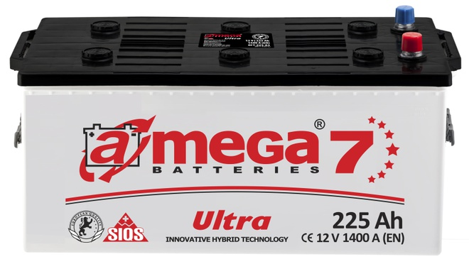 Грузовой аккумулятор A-mega Ultra 225