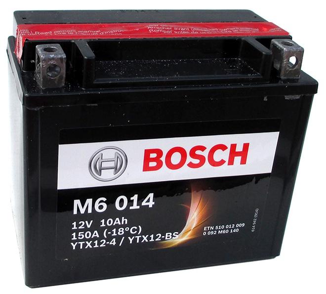 Аккумулятор для мотоциклов Bosch YTX12-BS / YTX12-4 10Ah