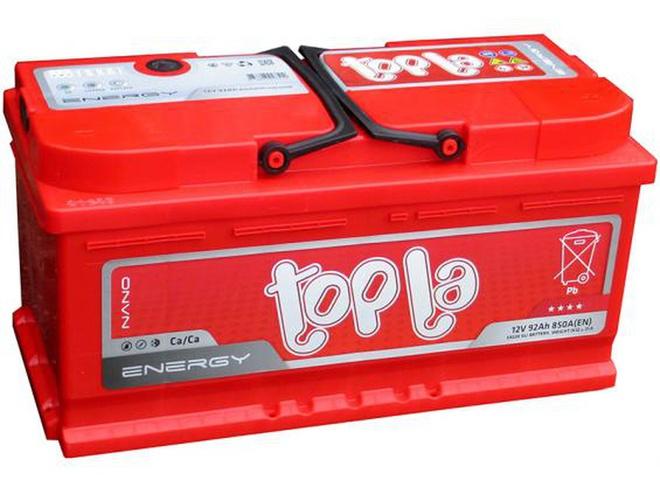 Аккумулятор автомобильный 92 TOPLA Energy L+