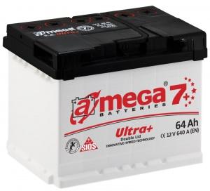 Аккумулятор автомобильный A-mega Ultra+ 64 R