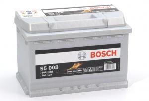 Аккумулятор автомобильный Bosch S5 Silver Plus 77 R