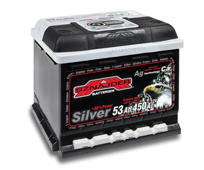 Аккумулятор автомобильный Sznajder Silver [magic eye] 55 R