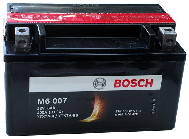 Аккумулятор для мотоциклов Bosch YTX7A-BS 6Ah