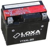 Аккумулятор для мотоциклов LOXA YTX 4L-BS 3Ah