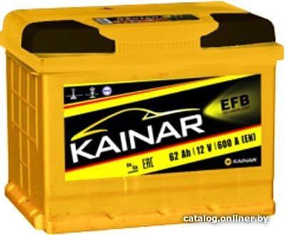 Аккумулятор автомобильный Kainar EFB 62 R+