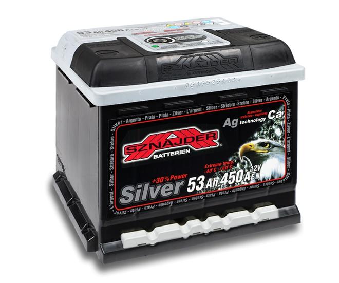 Аккумулятор автомобильный Sznajder Silver [magic eye] 53 R