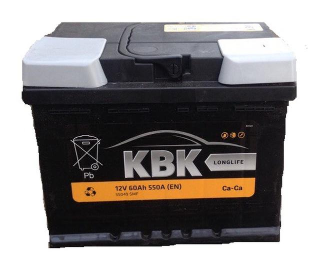 Аккумулятор автомобильный KBK 55 R низк.