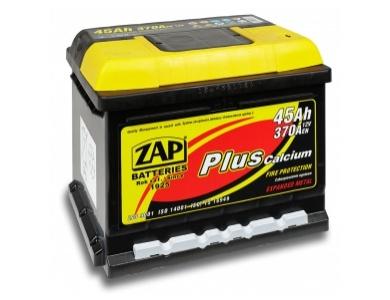 Аккумулятор автомобильный 45 Ah  ZAP PLUS JAPAN