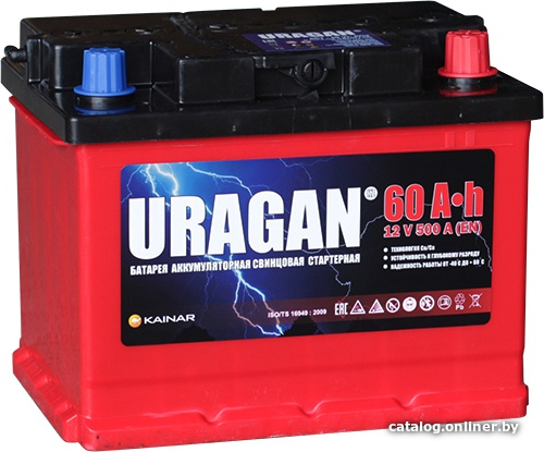 Аккумулятор автомобильный URAGAN 60 L+
