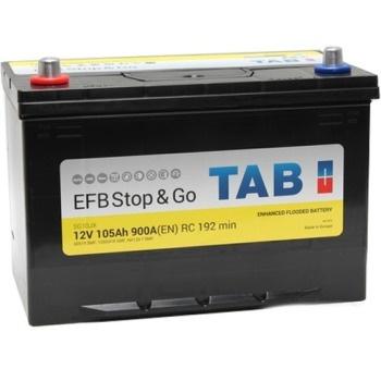 Аккумулятор автомобильный Tab Stop&Go Asia EFB 105 JR