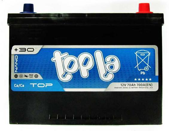 Аккумулятор автомобильный 70 TOPLA TOP Asia R+