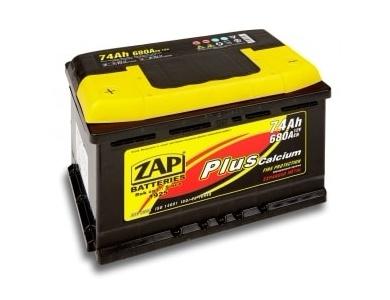 Аккумулятор автомобильный 75 Ah ZAP PLUS