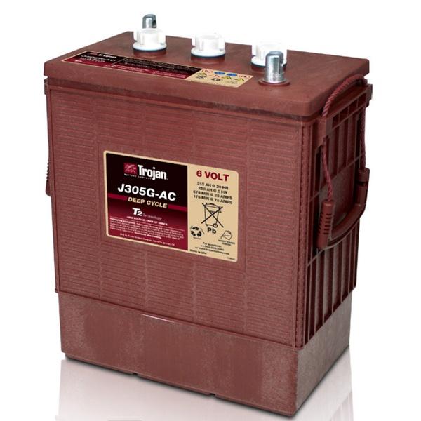 Лодочный аккумулятор Trojan J305G-AC 6V 315Ah