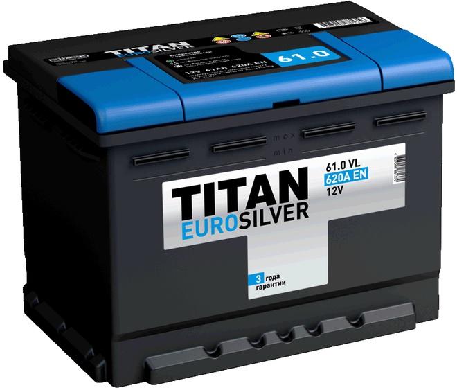 Аккумулятор автомобильный TITAN Euro Silver 60 R