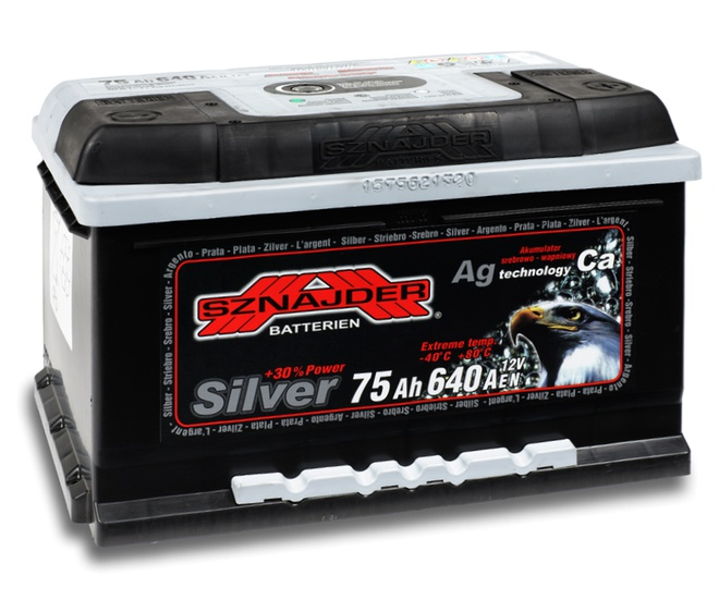 Аккумулятор автомобильный Sznajder Silver [magic eye] 75 R