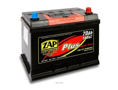 Аккумулятор автомобильный 70Ah ZAP PLUS  JAPAN