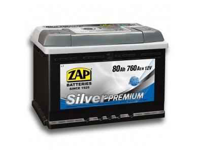 Аккумулятор автомобильный 80 Ah 580 35 ZAP SILVER PREMIUM