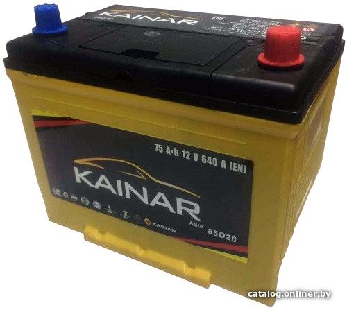 Аккумулятор автомобильный Kainar Asia 75 JR+