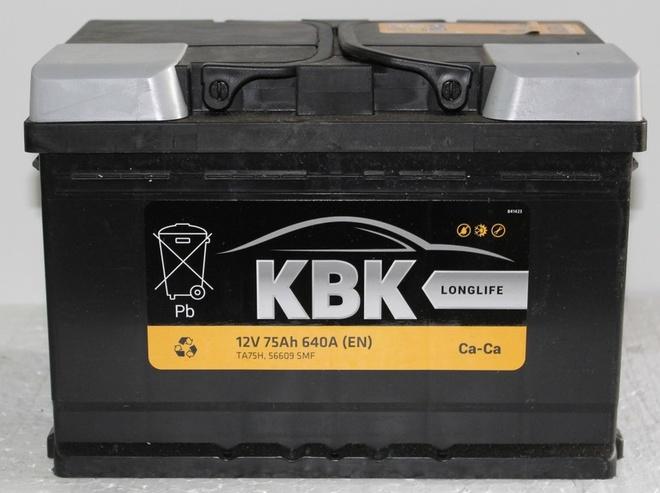 Аккумулятор автомобильный KBK 75 R new
