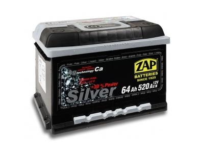 Аккумулятор автомобильный 64 Ah-564 25 ZAP SILVER /о.п./