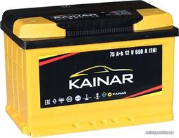 Аккумулятор автомобильный Kainar 75 R+ низк.