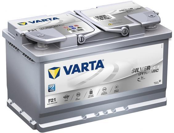 Аккумулятор автомобильный 80 VARTA SILVER DYNAMIK AGM