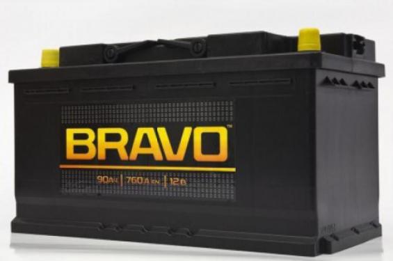 Аккумулятор автомобильный BRAVO 6СТ-90  Евро