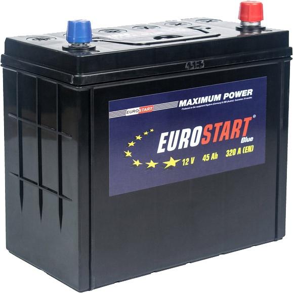 Аккумулятор автомобильный 45 Аh Eurostart Blue Asia L+