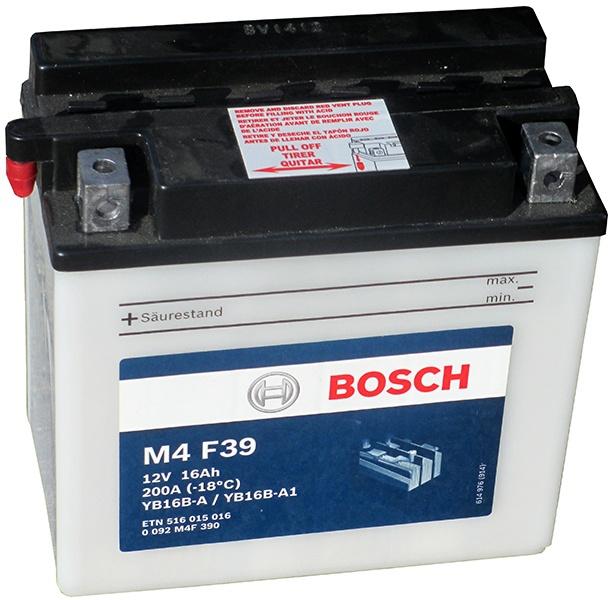 Аккумулятор для мотоциклов Bosch YB16B-A/YB16B-A1 16Ah