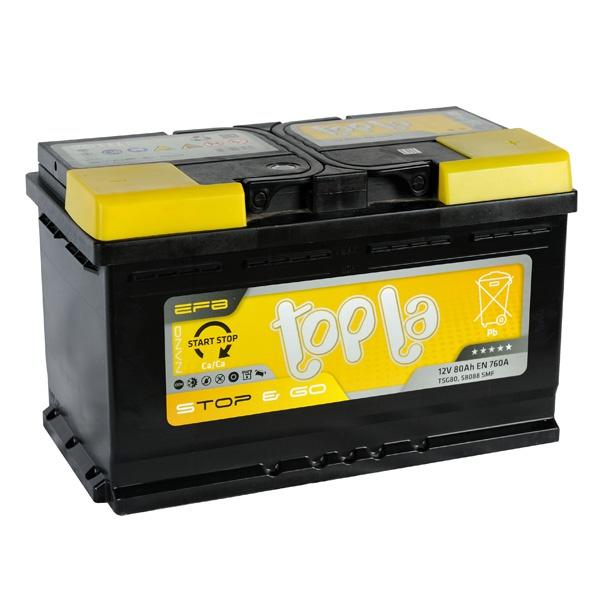 Аккумулятор автомобильный 80 Topla EFB STOP&GO