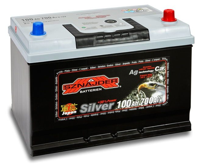 Аккумулятор автомобильный Sznajder Silver Japan [magic eye] 100 JR