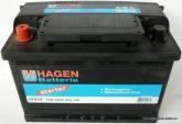 Аккумулятор автомобильный 74 HAGEN L
