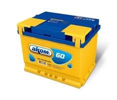 Аккумулятор автомобильный АКОМ 6СТ-60 Евро низкий