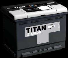 Аккумулятор автомобильный Titan Standart 62 R