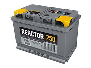 Аккумулятор автомобильный АКОМ 6СТ-75 Реактор