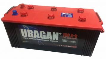 Грузовой аккумулятор URAGAN 190 L+ клемма конус