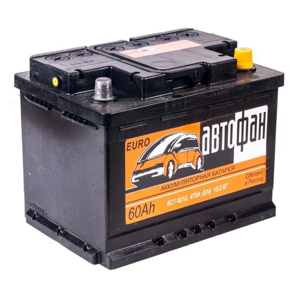Аккумулятор автомобильный АВТОФАН 6СТ-60  Евро