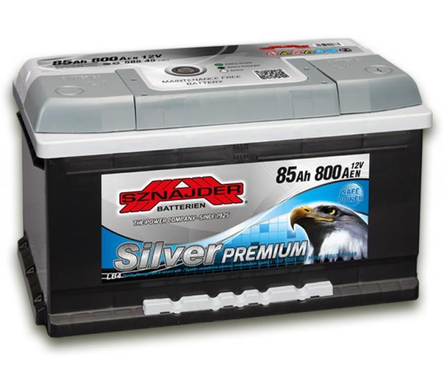 Аккумулятор автомобильный Sznajder Silver Premium [magic eye] 85 R