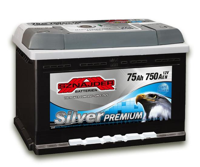 Аккумулятор автомобильный Sznajder Silver Premium [magic eye] 75 R