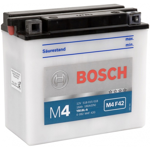 Аккумулятор для мотоциклов Bosch YB18L-A 18Ah